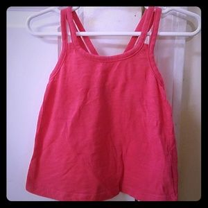 Old Navy Double Strap with Bow Tank Top